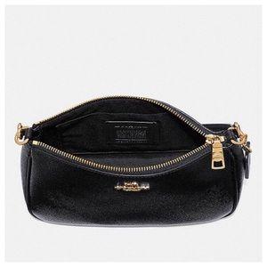 a7e754084d8b Coach Bags - COACH Black Leather Crossbody Bag Top Handle Pouch